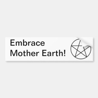 Pentagram within circle car bumper sticker
