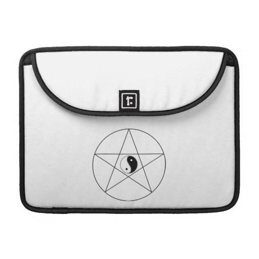 Pentagram Yin Yang black Sleeve For MacBook Pro