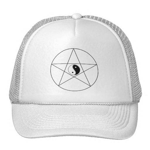 Pentagram Yin Yang black Trucker Hat