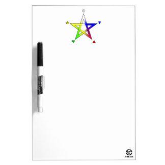 Pentagrama Elemental Dry Erase Board