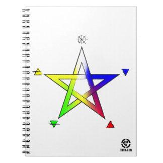 Pentagrama Elemental Spiral Notebook