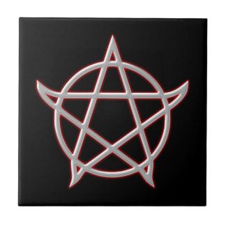 Pentagramm pentacle tejas  cerámicas