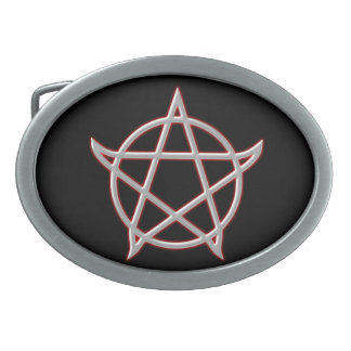 Pentagramm pentacle hebilla cinturon oval