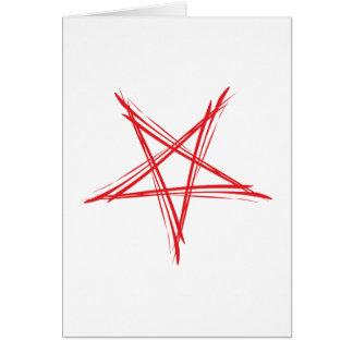 Pentagramm pentacle felicitación