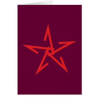 Pentagramm pentacle tarjetón