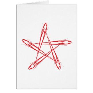 Pentagramm pentacle tarjeta