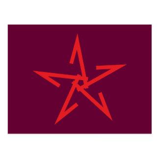 Pentagramm pentacle tarjeta postal