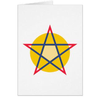 Pentagramm pentagram felicitación