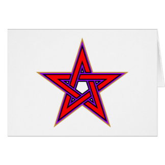 Pentagramm pentagram tarjeta