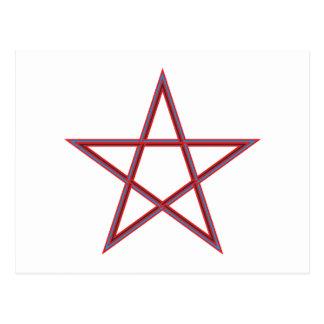 Pentagramm pentagram tarjetas postales