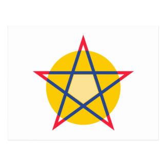 Pentagramm pentagram postal