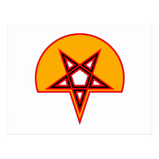 Pentagramm pentagram tarjeta postal