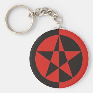 Pentagramm roja negro