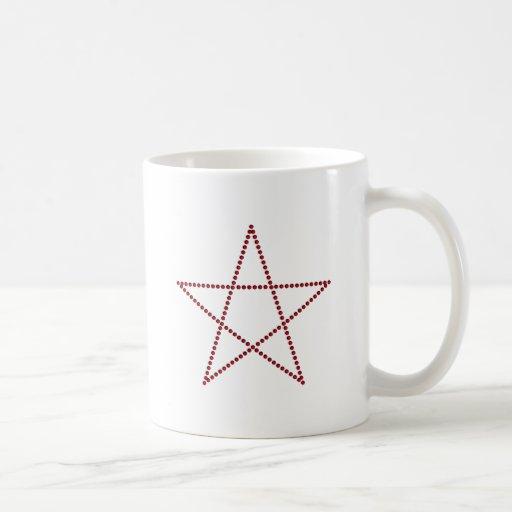 Pentagramm rubí pentagram rubies taza