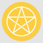 Pentagrams coloridos etiqueta redonda