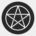 Pentagrams coloridos etiquetas redondas