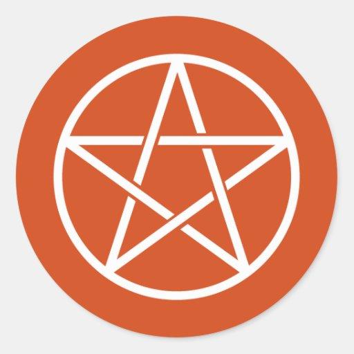 Pentagrams coloridos pegatina redonda