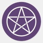 Pentagrams coloridos pegatinas redondas