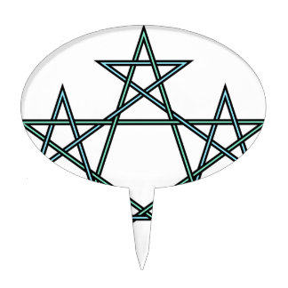 Pentagrams-interlaced-pattern Cake Topper