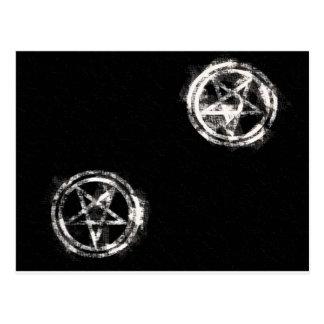 Pentagrams invertidos diagonal postal