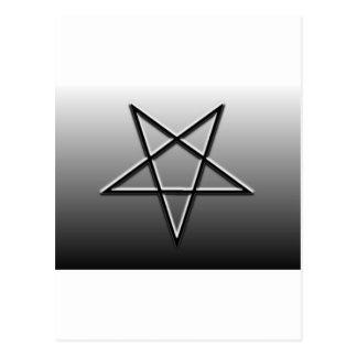 Pentagrams invertidos postal