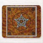Pentangle Pentagram Witchcraft Divination Dowsing  Mouse Mat