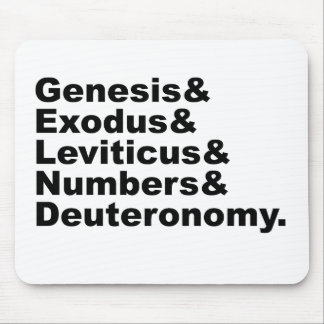 Pentateuch | Genesis Exodus Leviticus Numbers... Mouse Pad