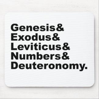 Pentateuch | Genesis Exodus Leviticus Numbers... Mouse Pad