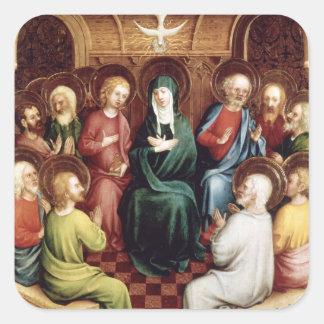 Pentecost, 1450 pegatina cuadrada