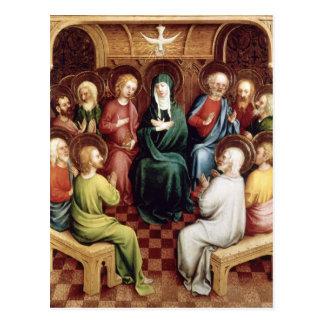 Pentecost, 1450 postcard