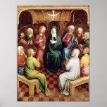 Pentecost, 1450 print