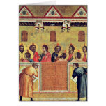 Pentecost By Giotto Di Bondone Greeting Cards