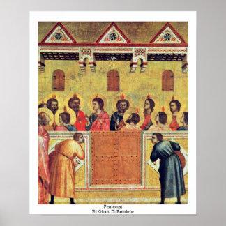 Pentecost de Giotto Di Bondone Poster