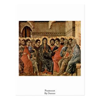 Pentecost por Duccio Tarjetas Postales