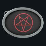 "Pentegram Buckle Oval Belt Buckle<br><div class=""desc"">Join Us On Facebook! Http://www.facebook.com/Heavy.Metal.Hitman</div>"