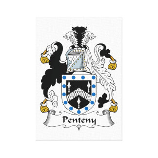 Penteny Family Crest Gallery Wrapped Canvas