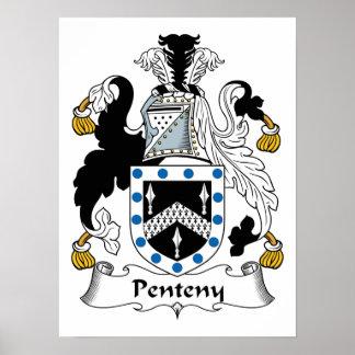 Penteny Family Crest Print