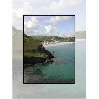 Pentewan Cornualles Vista costera escénica Escultura Fotografica