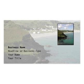Pentewan. Cornualles. Vista costera escénica Plantillas De Tarjetas De Visita