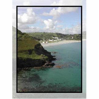 Pentewan. Cornwall. Scenic coastal view. Cutout