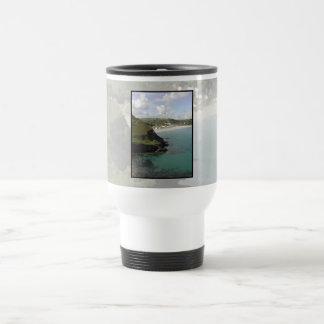Pentewan. Cornwall. Scenic coastal view. Coffee Mug