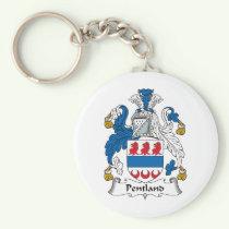 Pentland Family Crest Keychain