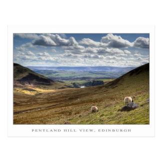 Pentland Hill View, Edinburgh Postcard