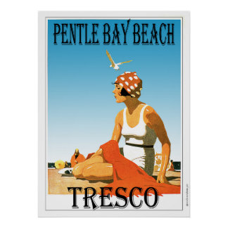 Pentle Bay Beach, Tresco  Isles of Scilly Poster