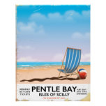 Pentle Bay Isles of Scilly travel poster