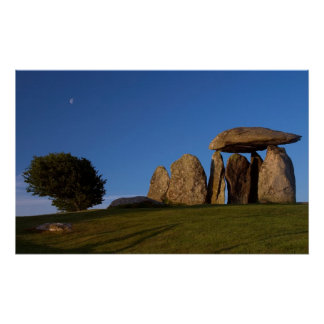 Pentre Ifan with Moon Photograph Poster