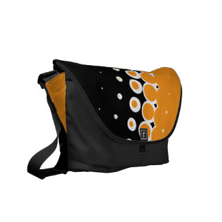 Penumbra Ebony (Orange) Messenger Bag