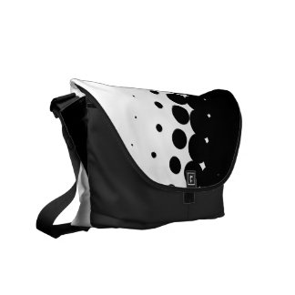 Penumbra Ivory (Black) Messenger Bag