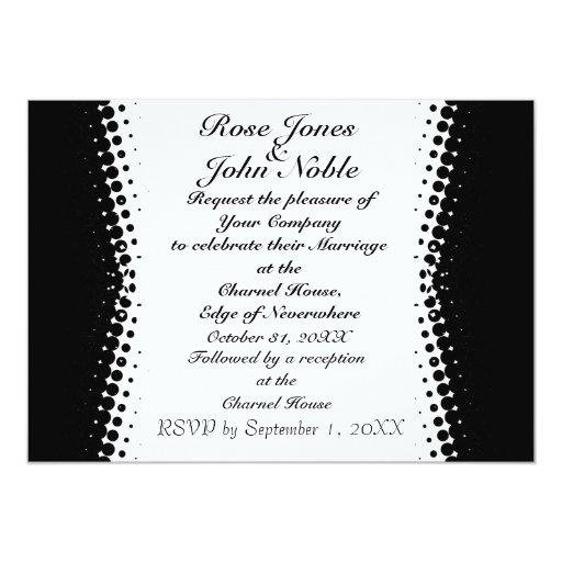 Penumbra Ivory (Black) Wedding Invitation