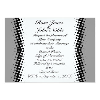 Penumbra Ivory (Grey) Wedding Invitation